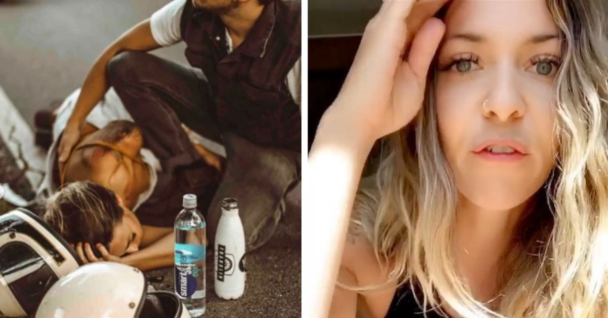 instagram influencer defends herself after ridiculous photoshoot after motorcycle crash