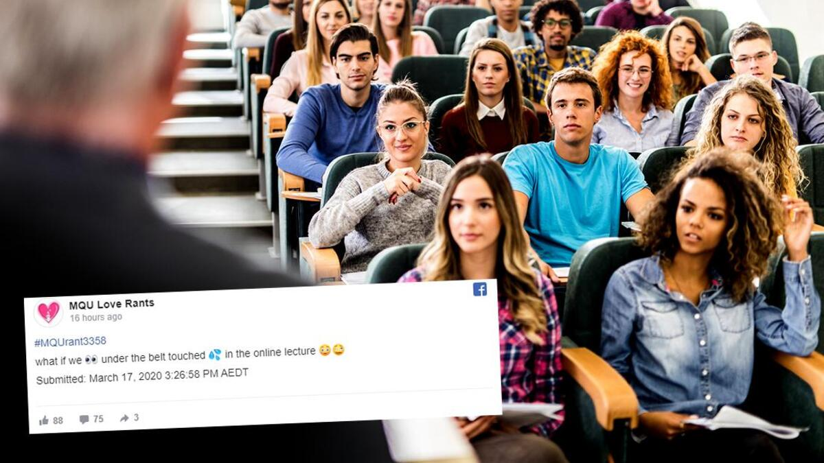 lecturer accidentally recorded the moment she spotted a student getting a hand job in a lecture