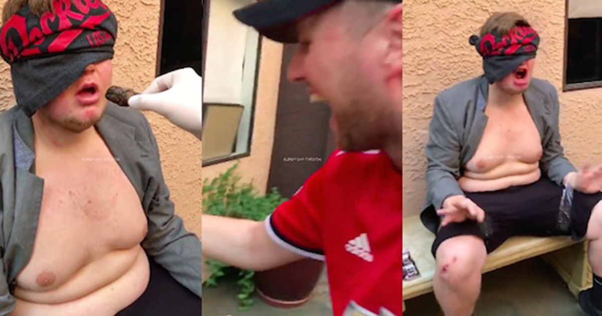 worst friends ever trick mate into eating warm dog poo (video)
