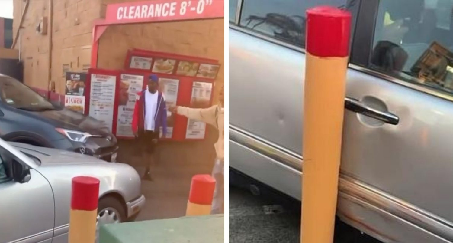 Woman Destroys Her Car Fighting For A Popeye's Chicken Sandwich