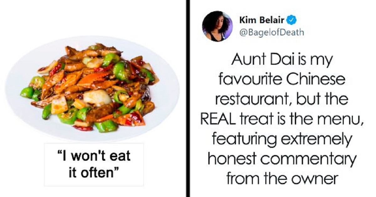 chinese restaurant owner adds funny, brutally honest descriptions on the menu, and people are here for it