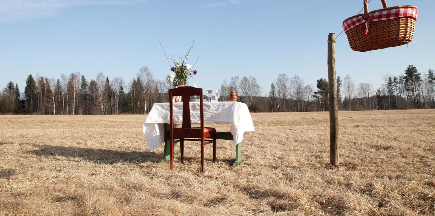 a one-person restaurant is opening in a swedish meadow