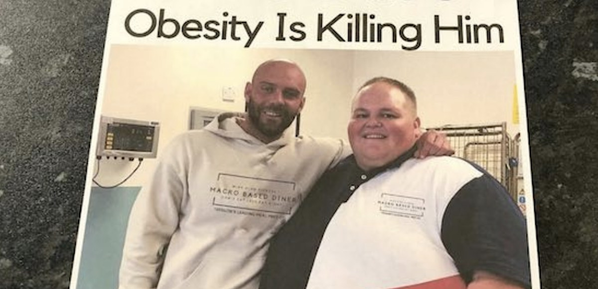 when fast food restaurants encourage obese man to lose weight, he sheds 140 pounds in 15 weeks