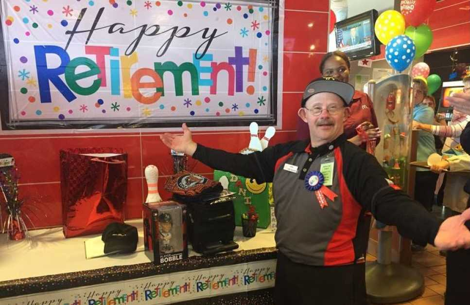 man with down syndrome completes 33 years of dedicated service in fast food
