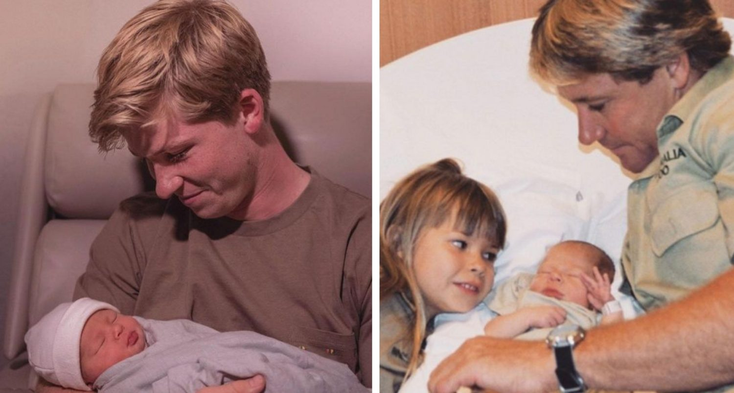 Robert Irwin Is The Spitting Image Of Dad Steve In First Photo With Newborn Niece
