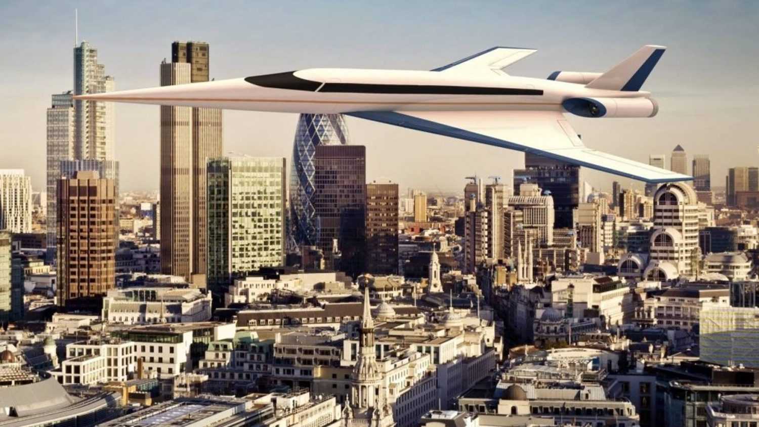 new supersonic jet could fly from london to new york in less than two hours