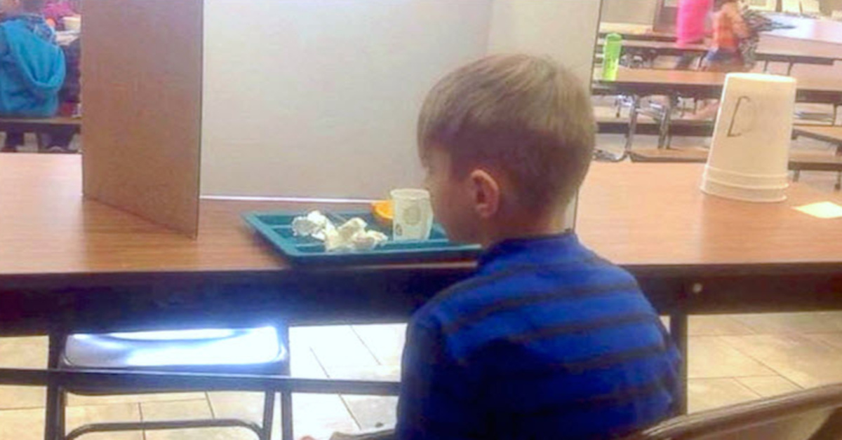 mom visits her 6-year-old tardy son during lunch — finds him being 'publicly shamed' by the staff