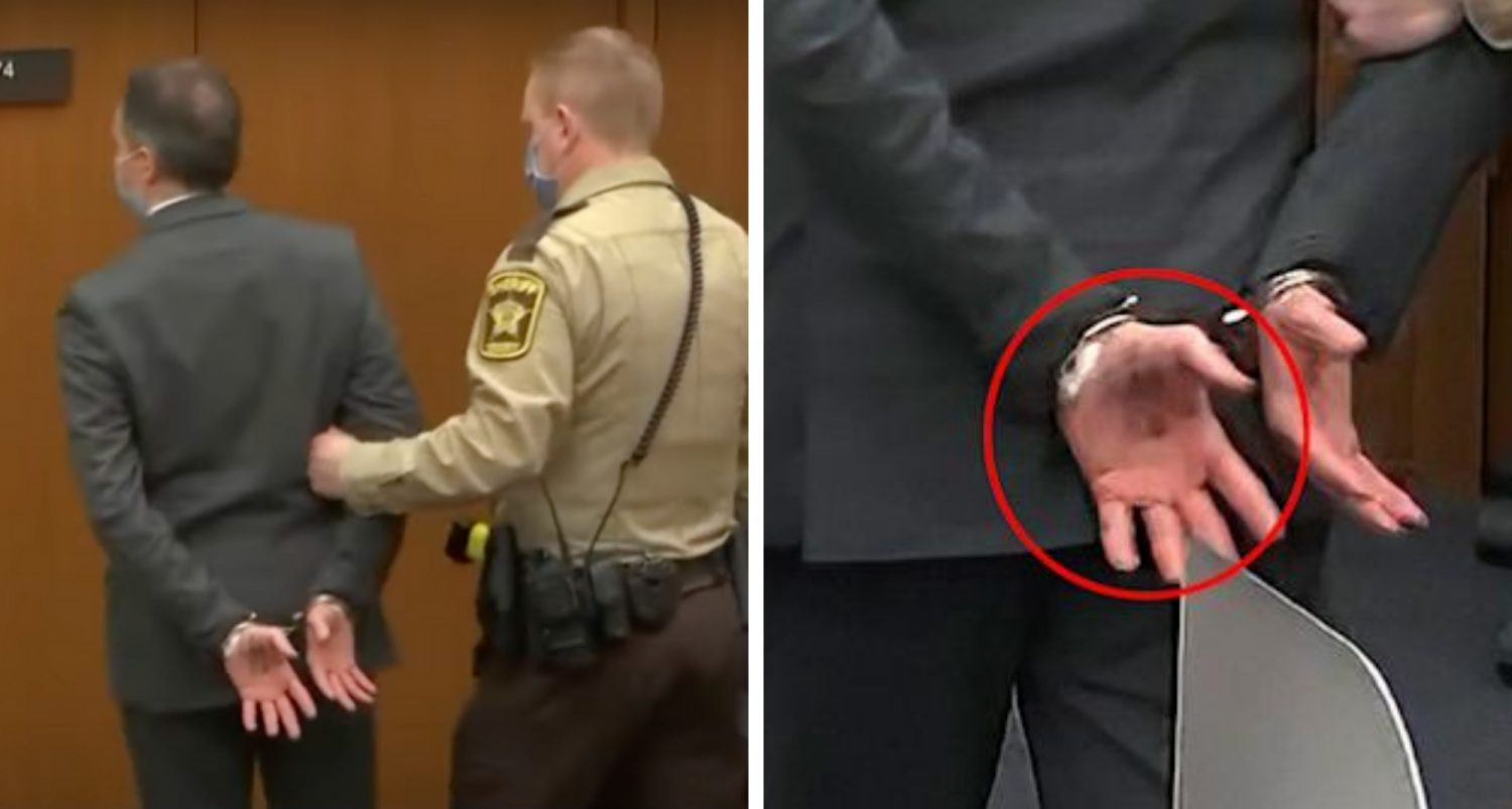 Note Derek Chauvin Wrote On His Hand Before Guilty Verdict May Hint As His Next Move