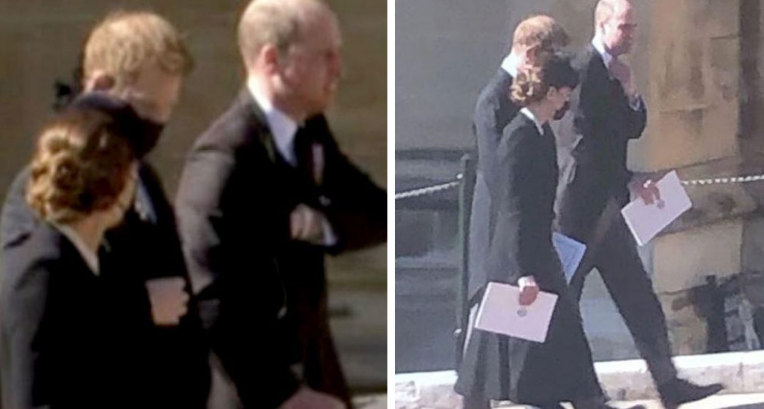 Prince Harry And Prince William Leave Prince Philip Funeral Together