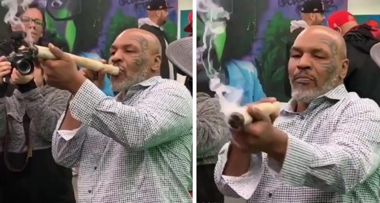 Mike Tyson Smokes Foot-long Joint At Marijuana Festival