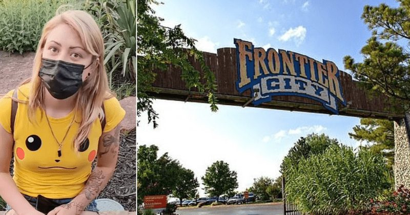 a mother was threatened with criminal trespassing at six flags because of her shorts