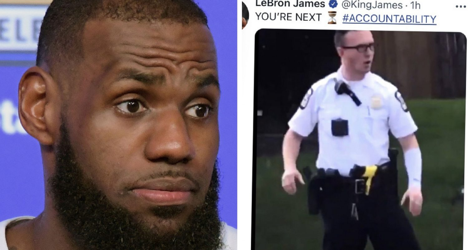Lebron James' Controversial Tweet Targeting Police Officer Sparks Calls For Sponsors To Drop Him