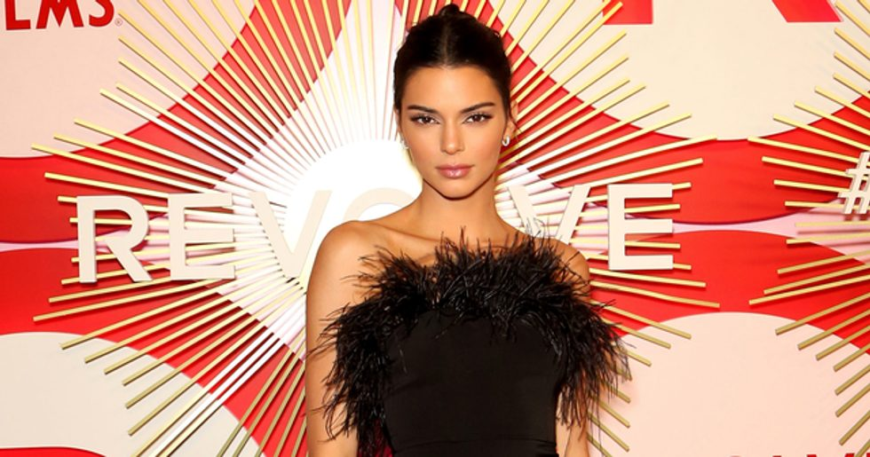 kendall jenner mocked for wearing 'tiniest string bikini in the world'