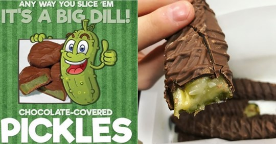 chocolate-covered dill pickles are the snack you may not be ready for