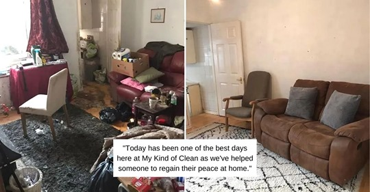 cleaning company spends 50 hours transforming elderly widower's house