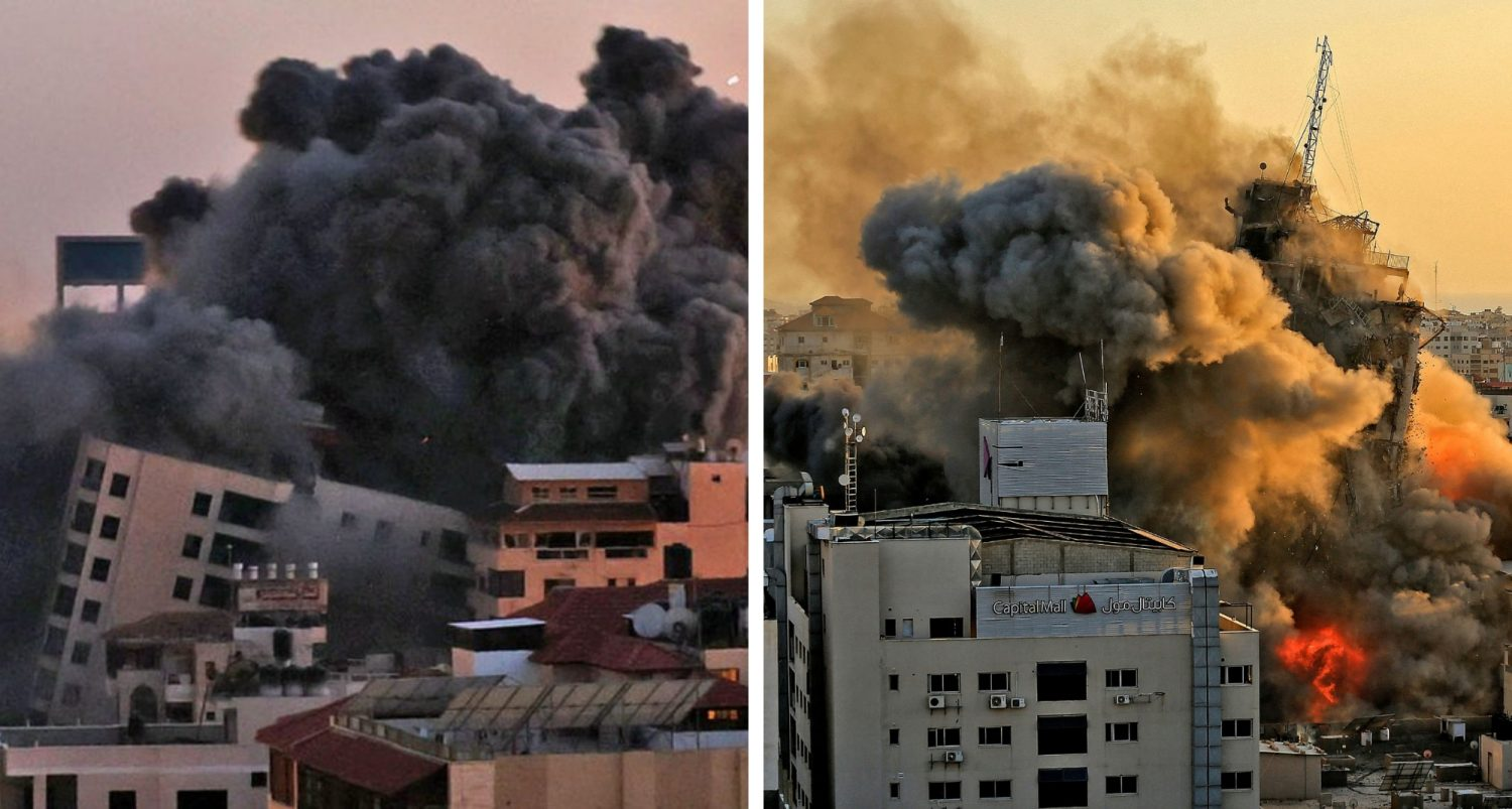 Largest 13-storey Residential Building In Gaza Collapses After Israeli Air Strike