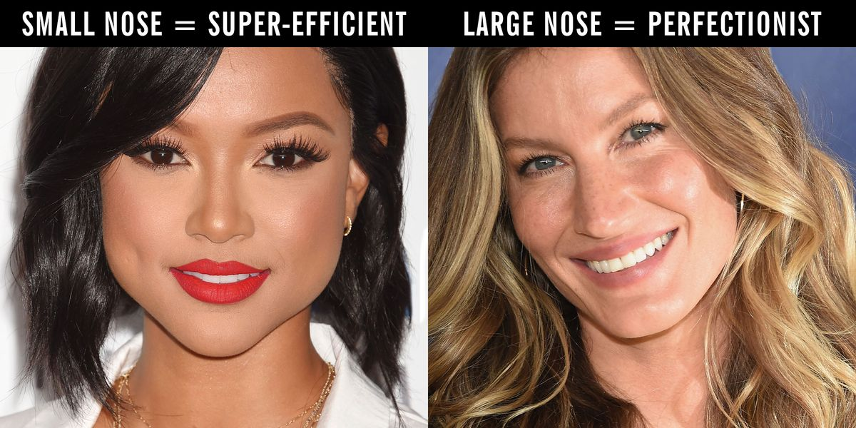 18 things your nose shape says about you