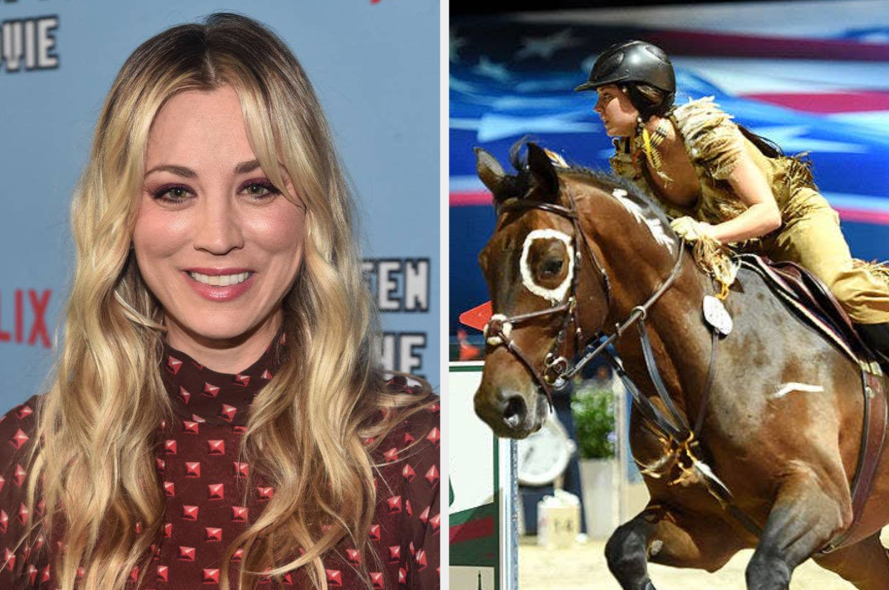 in an impassioned instagram story, kaley cuoco offered to buy a horse after it was punched during the olympic games