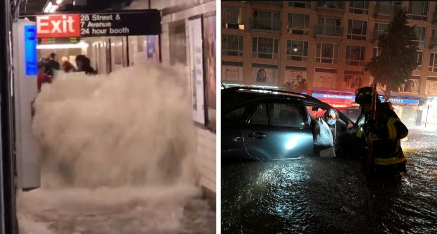 New York Devastated By Historic Flooding As City Declares State Of Emergency