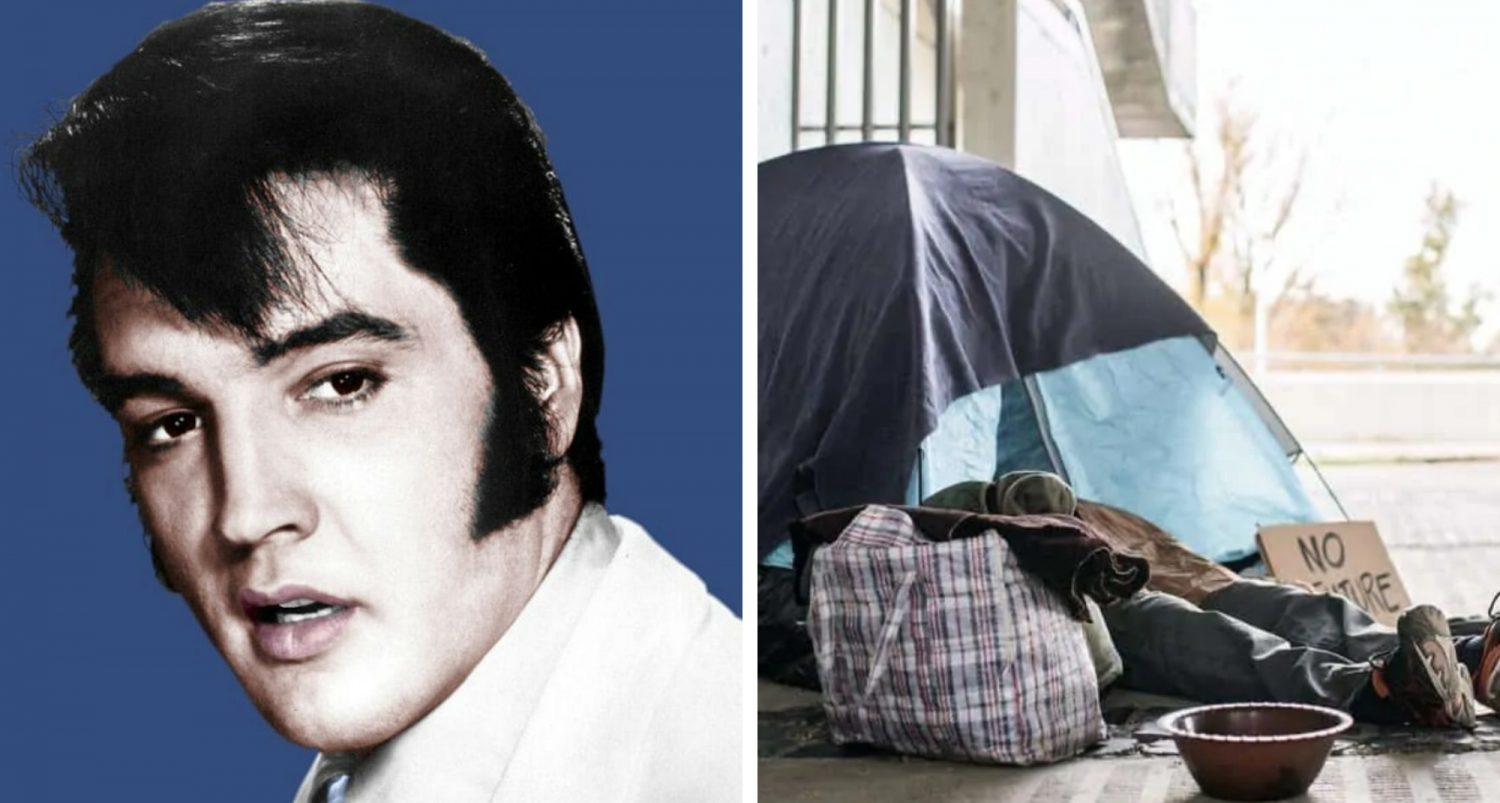 Conspiracy Theorists Think Homeless Man Found In California Was Actually Elvis Presley