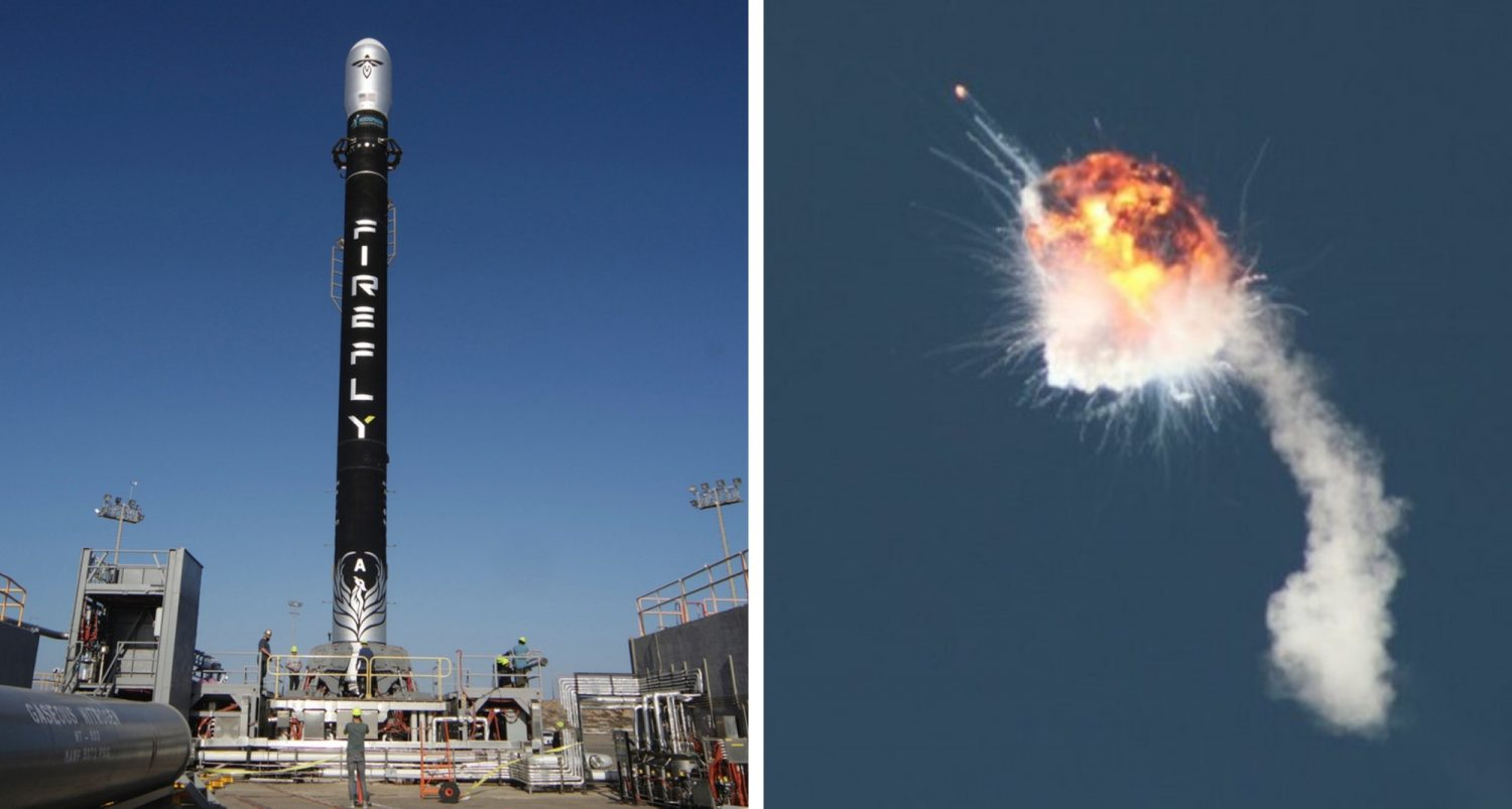Firefly Rocket Explodes Minutes After First Launch